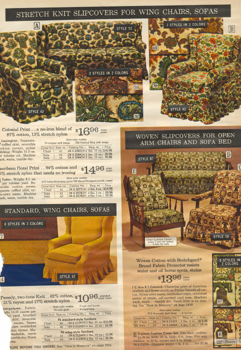 It Came From The 1971 Sears Catalog Slipcovers