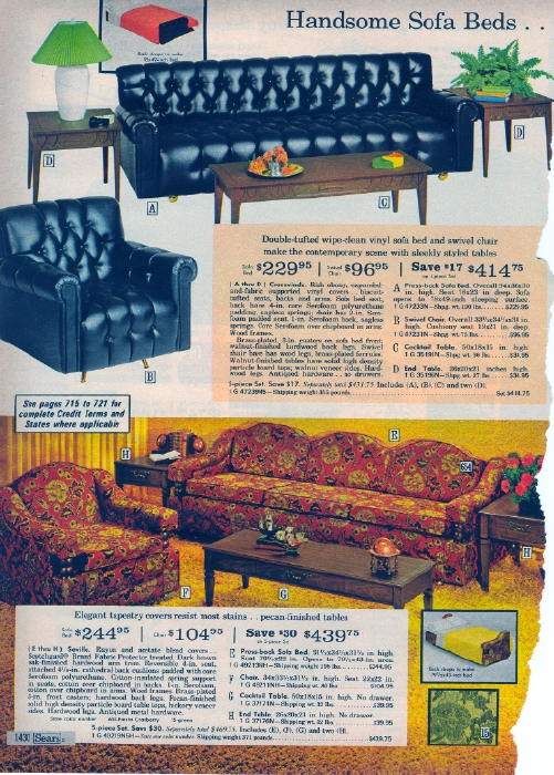 It Came From The 1971 Sears Catalog More Furniture