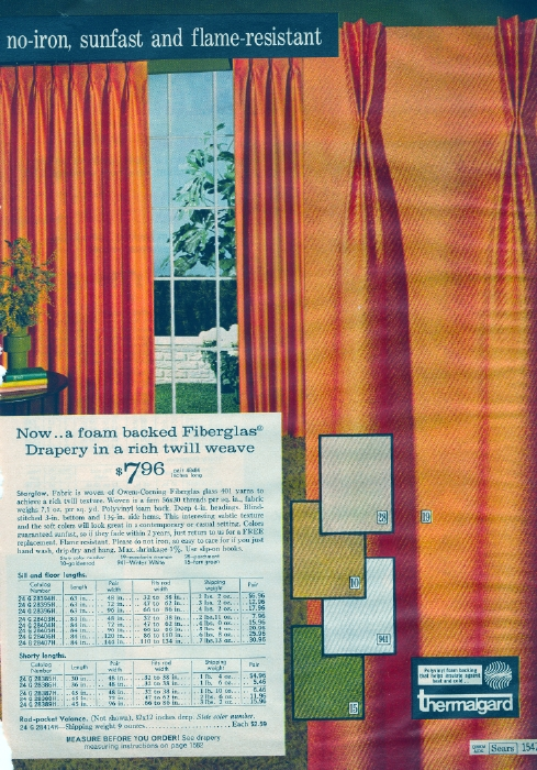 It Came From The 1971 Sears Catalog Curtains Bedding And