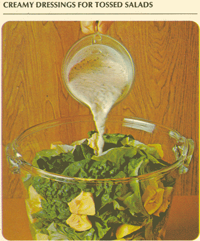 dressings for salads. to drink salad dressing