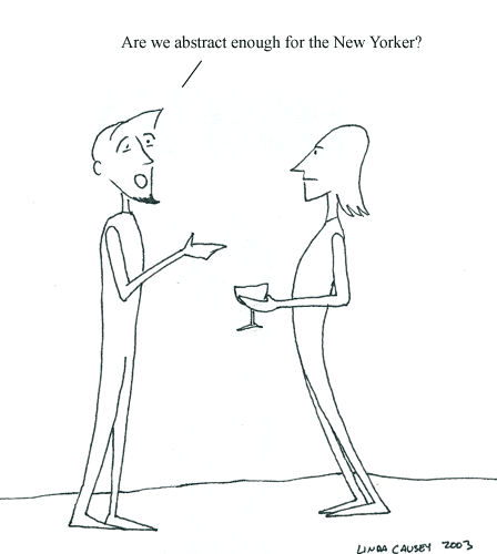 Are we abstract enough for the New Yorker?