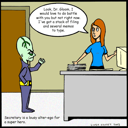 super secretary clipart