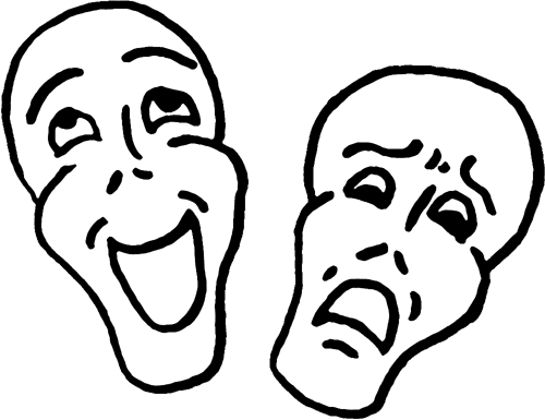 Comedy Clipart Comedy and tragedy