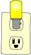 Outlet with a bright idea