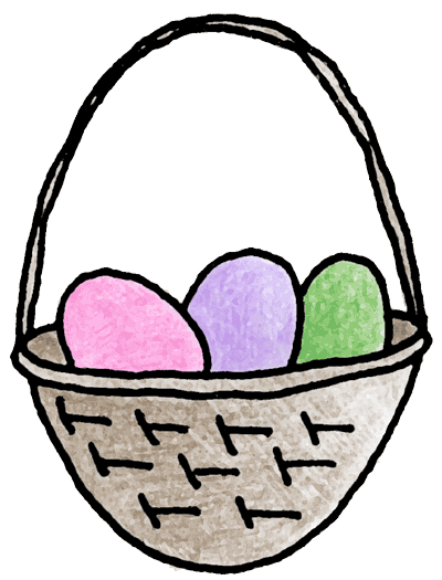 clip art easter. Easter basket