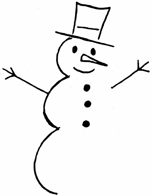 Snowman Pattern Outlines and Borders