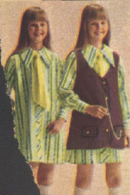 bc7eaa3f377 This outfit is so hideous not even Sears would display it at full size.  This is actually and 1 - 1 2 in. by 1 in. photo. The chubby girl is saved  because ...