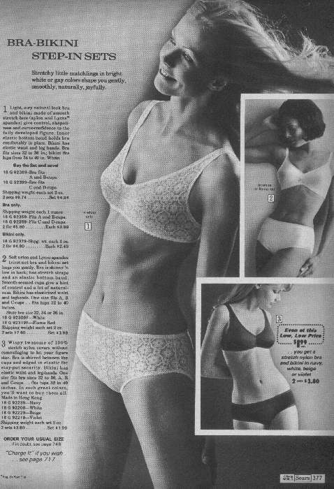 It Came From the 1971 Sears Catalog: Lingerie